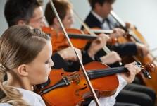 kids playing violin